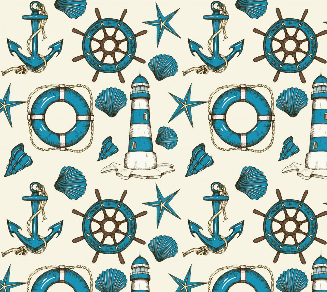 Aperçu de Vintage Tropical Nautical Pattern