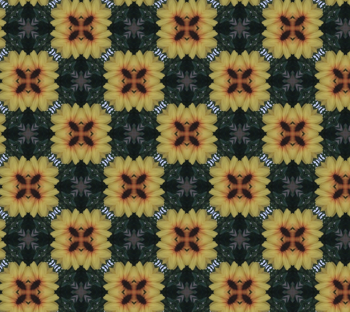 Checkered Sunflower Squares preview
