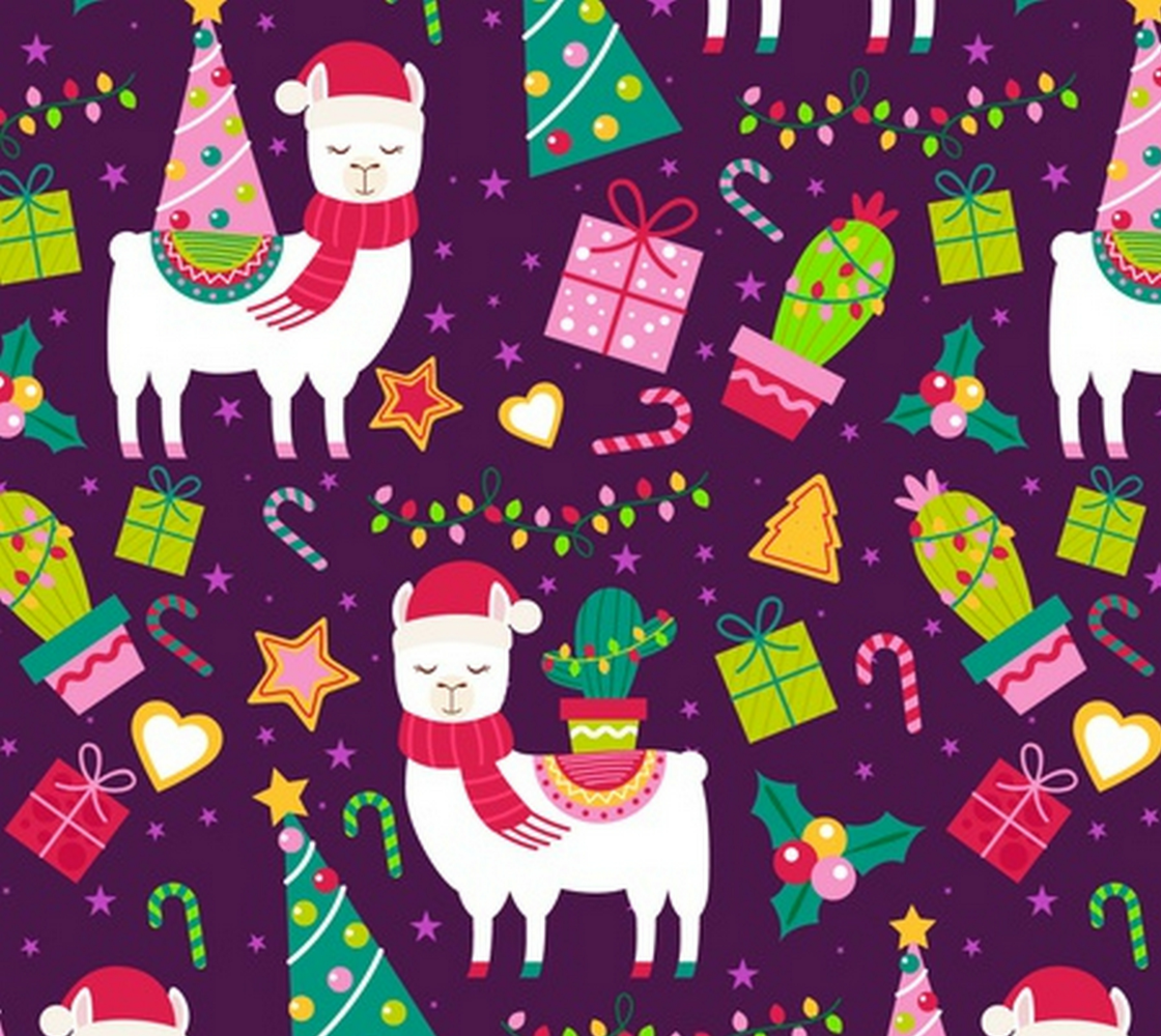 Aperçu de Adorable Christmas Llamas