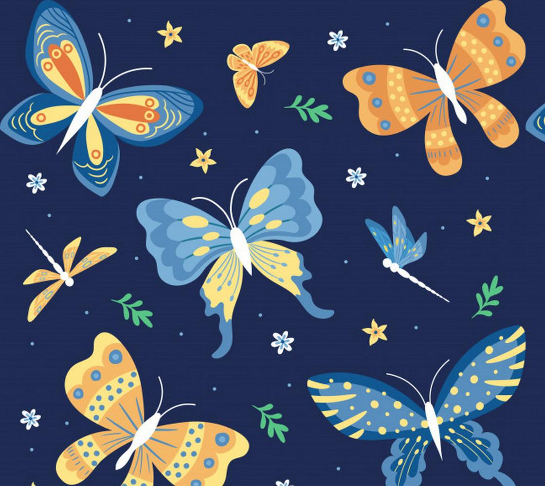 Aperçu de Butterflies and Dragonflies