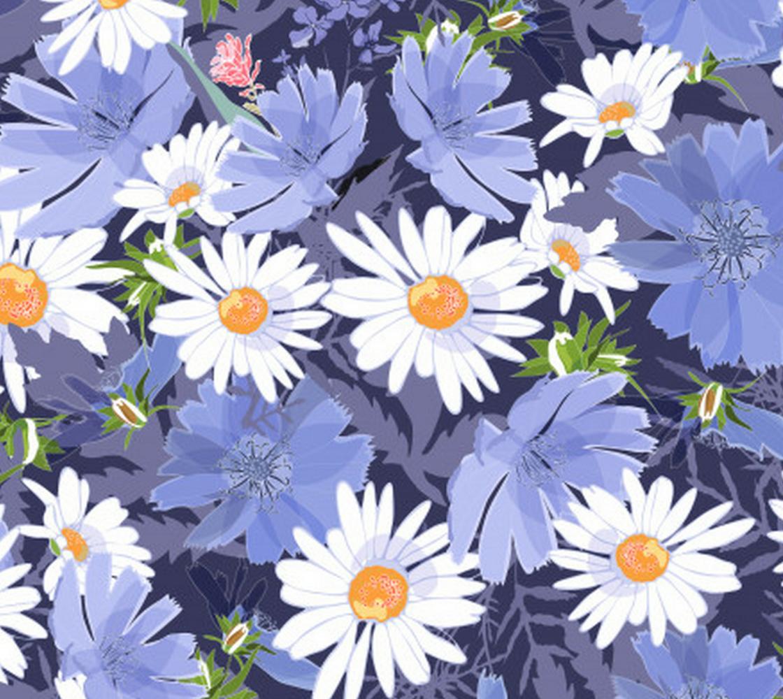 Aperçu de Gorgeous Purple Flower with White Daisies