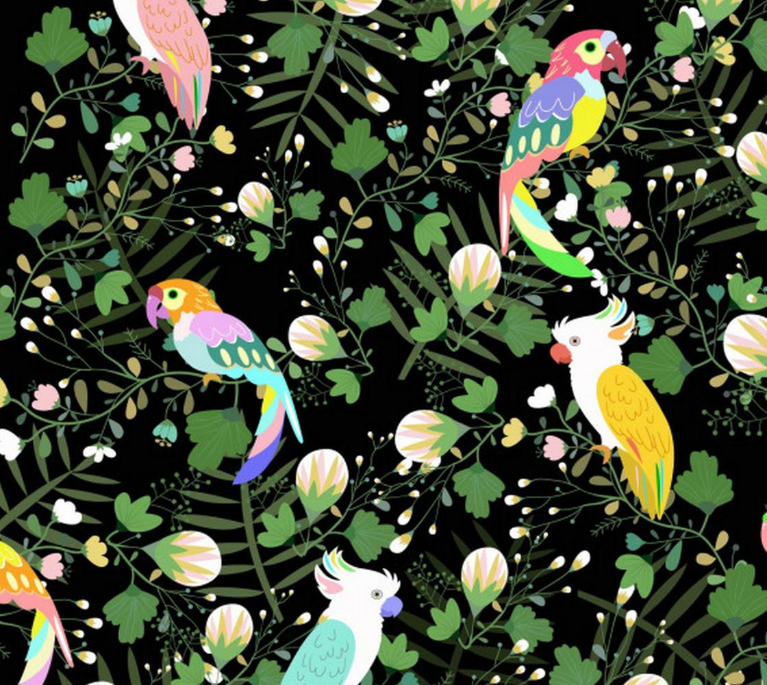 Aperçu de tropical Birds and Leaves