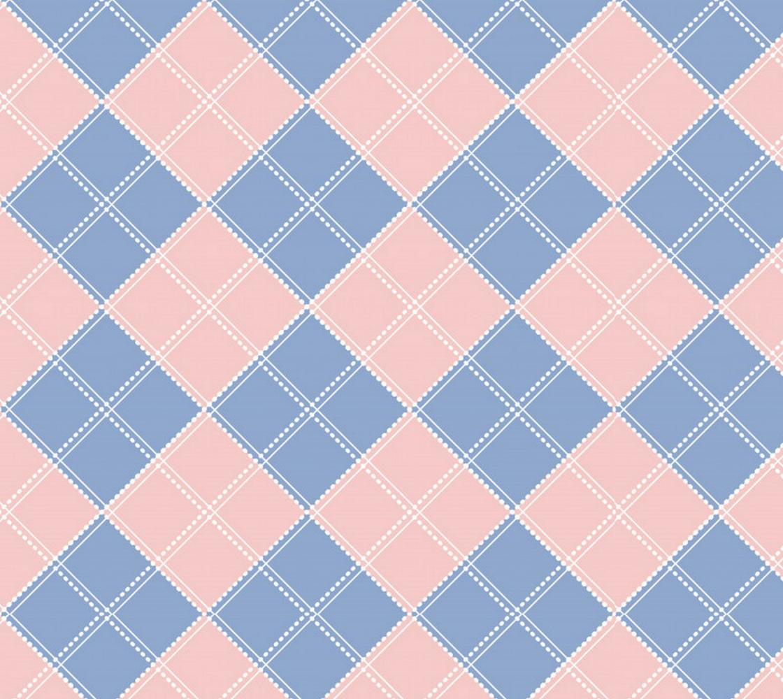 Aperçu de Pink and Blue Baby Argyle Fabric