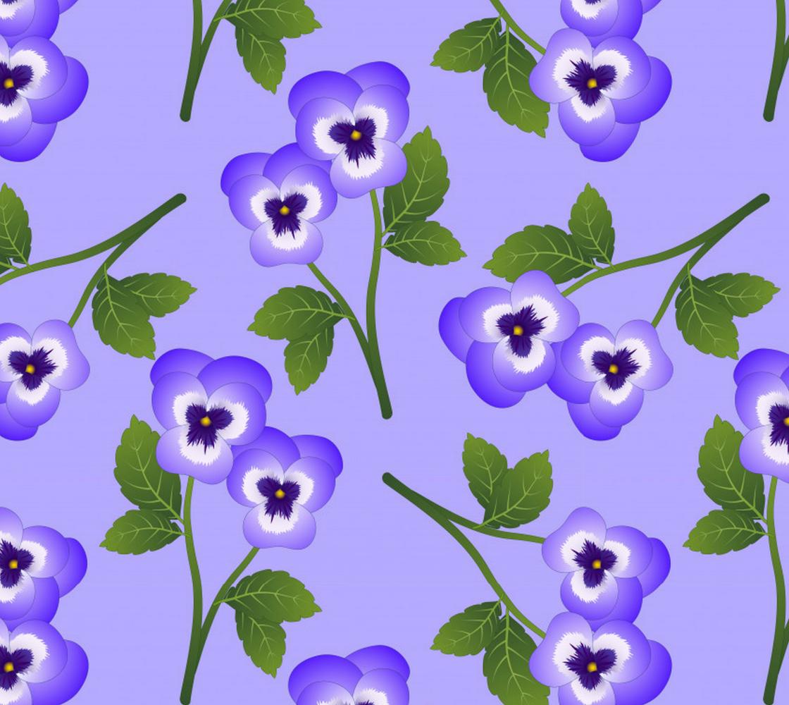 Purple Pansies aperçu