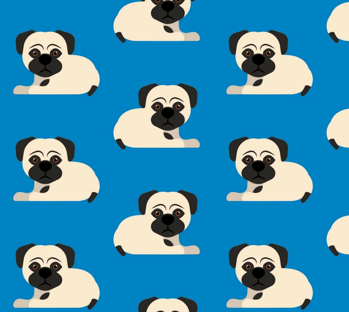 Aperçu de PUGS on Blue Background