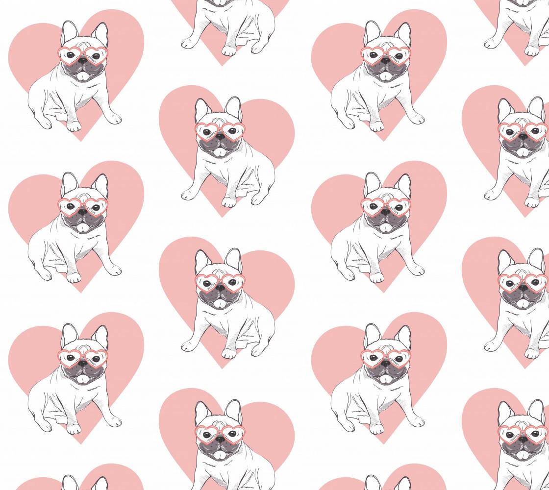 Aperçu de French Bulldog - Frenchie and Heart - Valentine French Bulldog