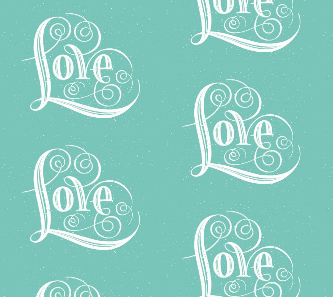 Aperçu de  Text Based LOVE fabric