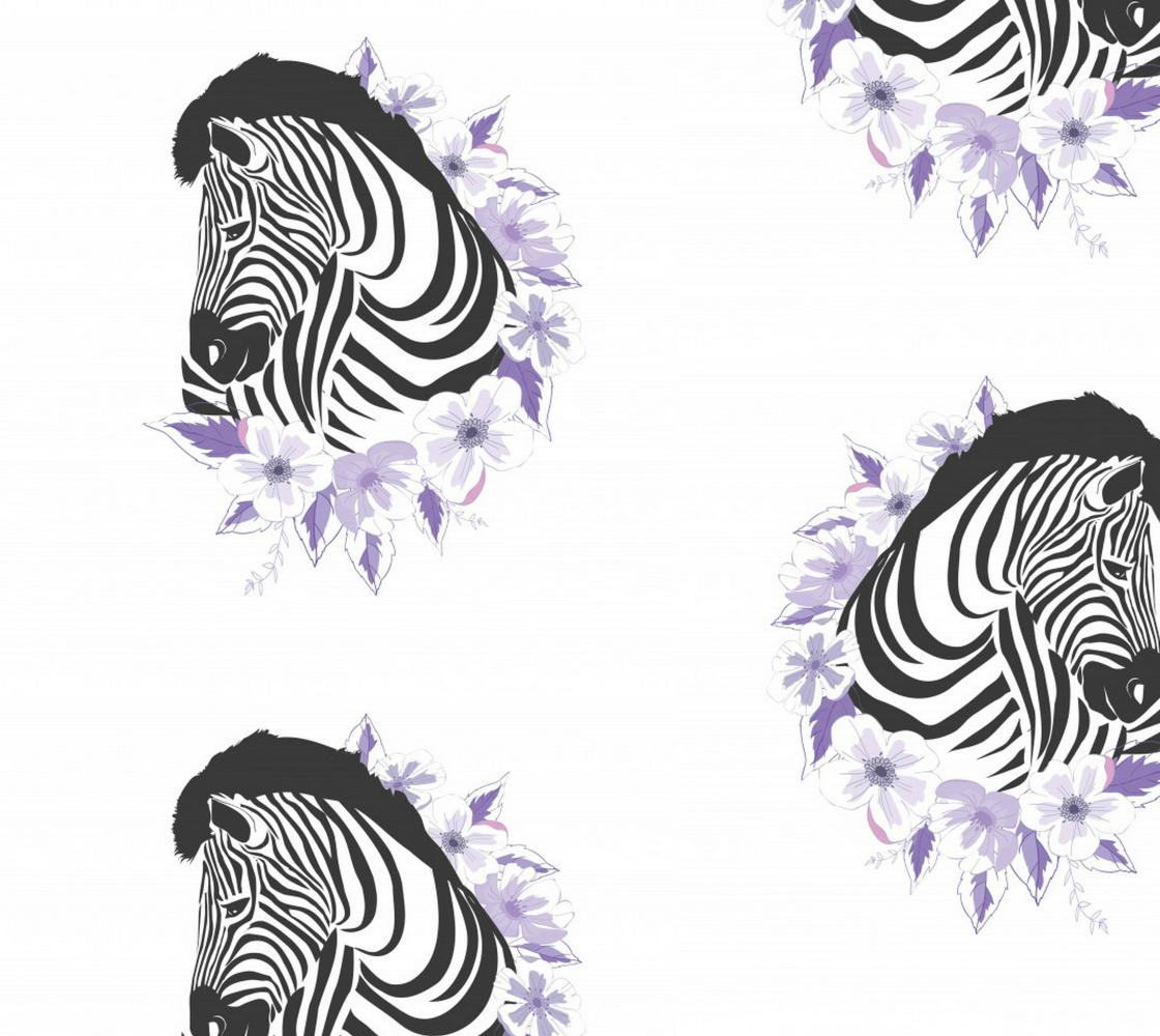 Aperçu de Zebras and Floral Wreath
