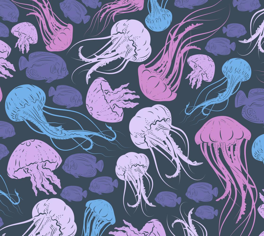 Aperçu de Under the Sea - Purple, Lavender, Blue
