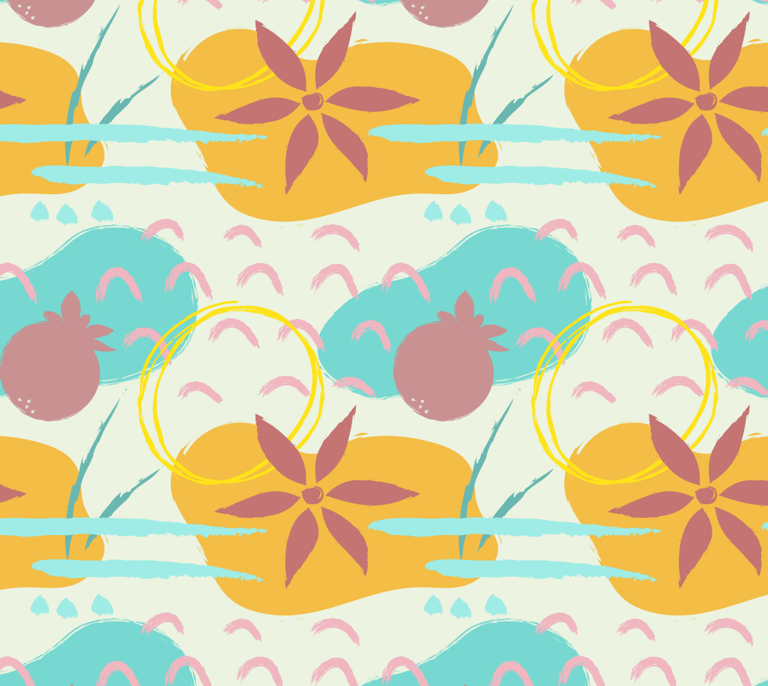 Aperçu de Bold Colorful Tropical Fabric