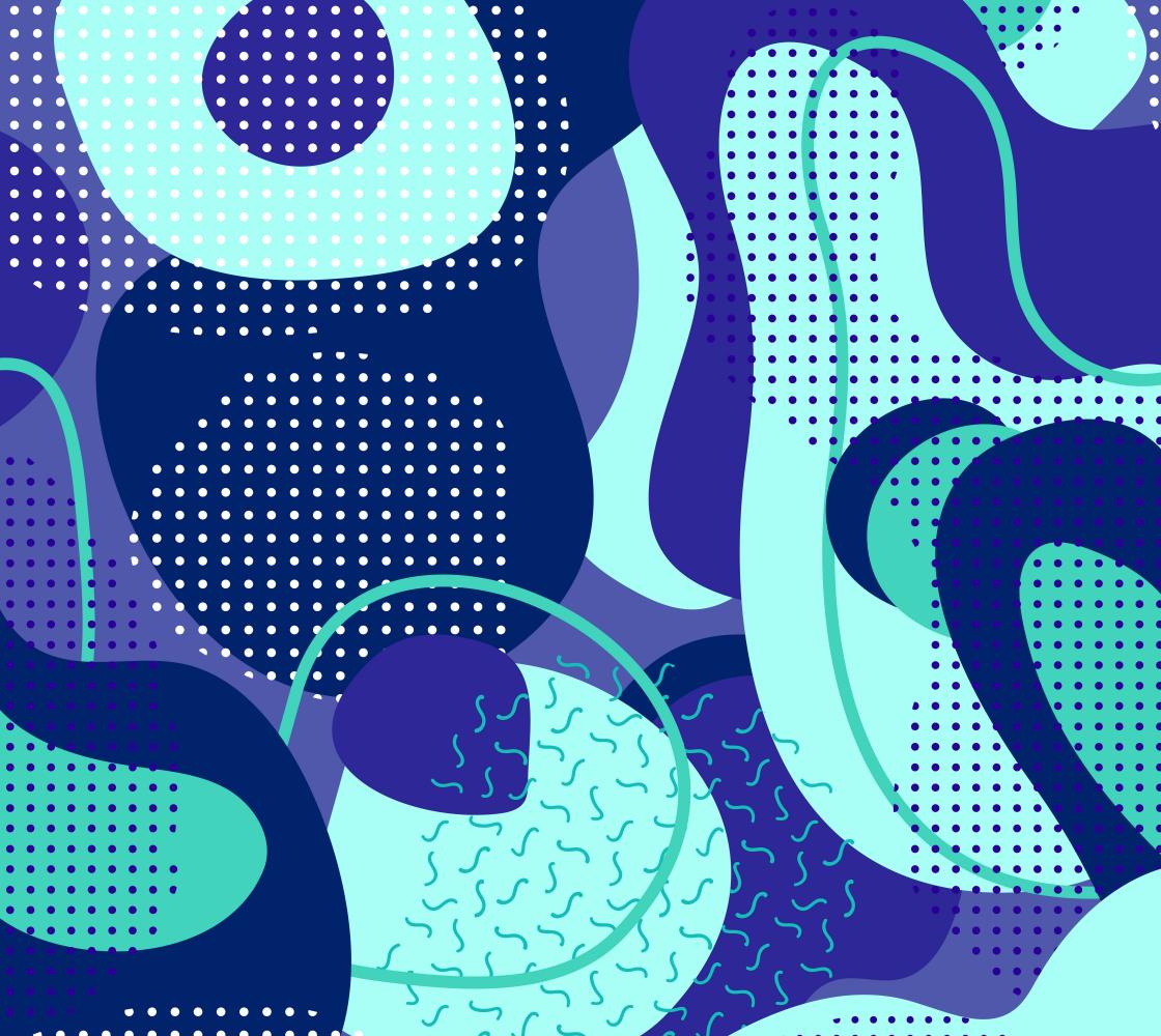 Aperçu de Bright Bold and Blue Retro Abstract