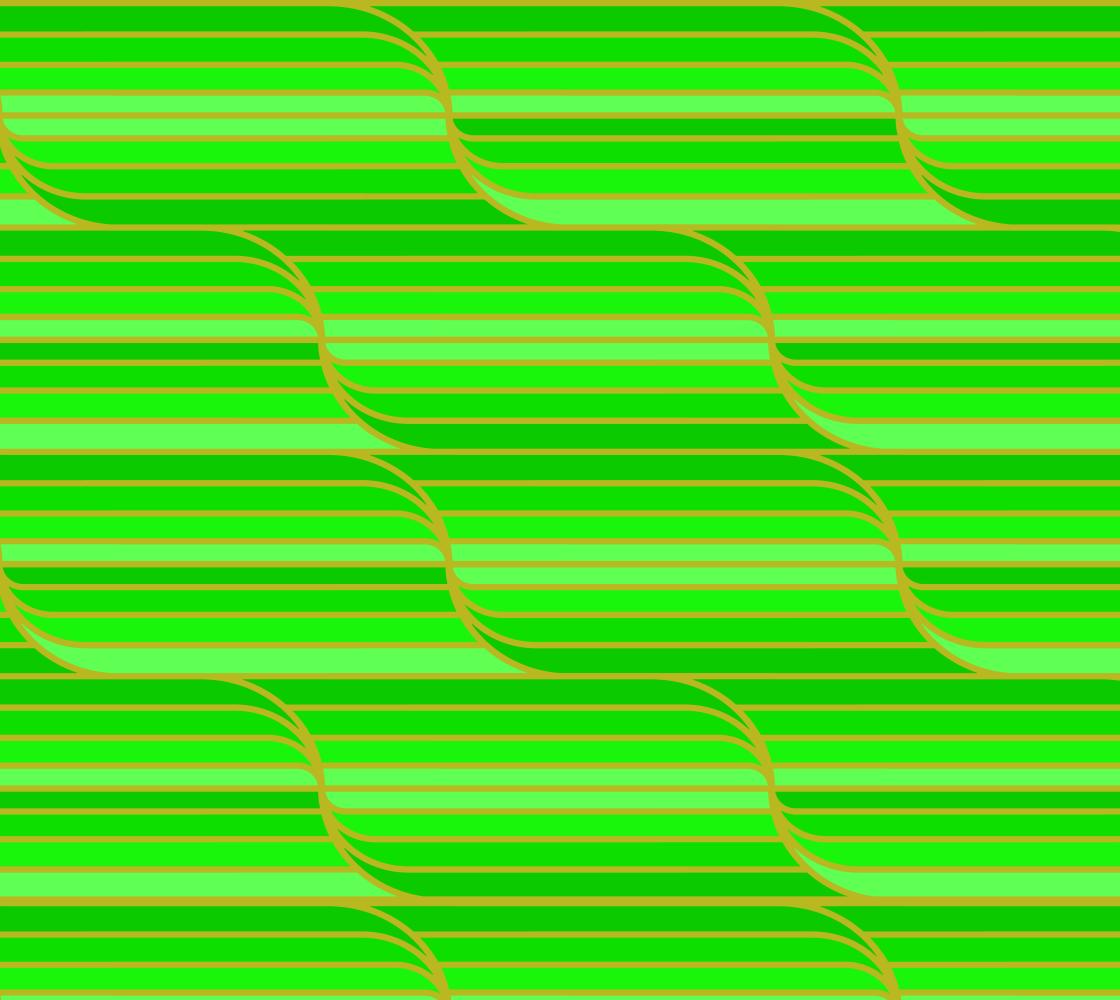 Geo Stripes - Green Fabric - Medium Pattern aperçu