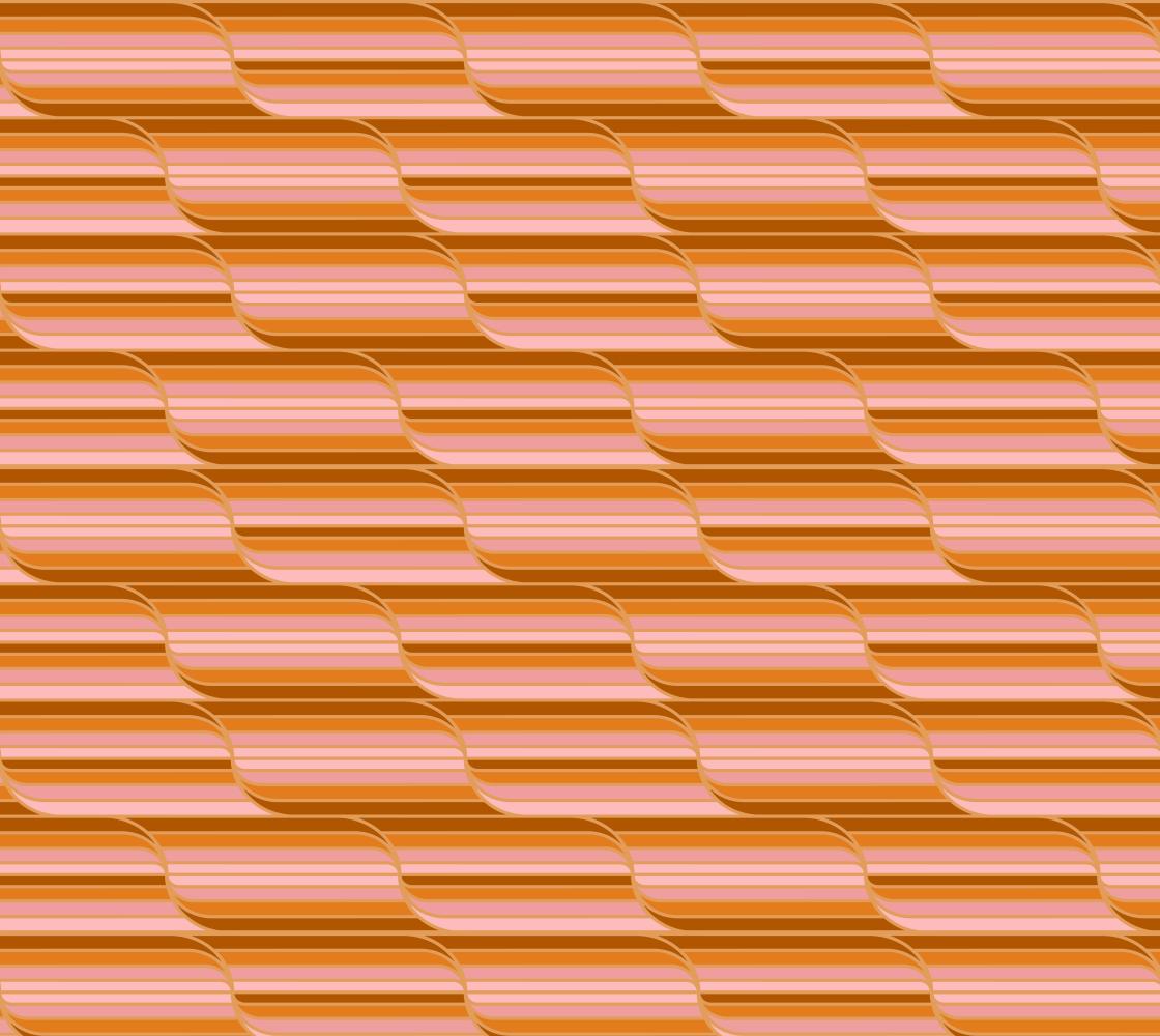Geo Stripes - Butterscotch Fabric - Extra Small Pattern aperçu