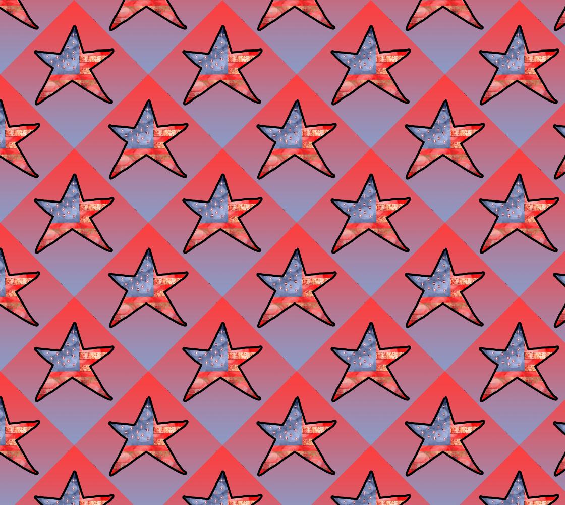 Aperçu de American Flag Star Fabric