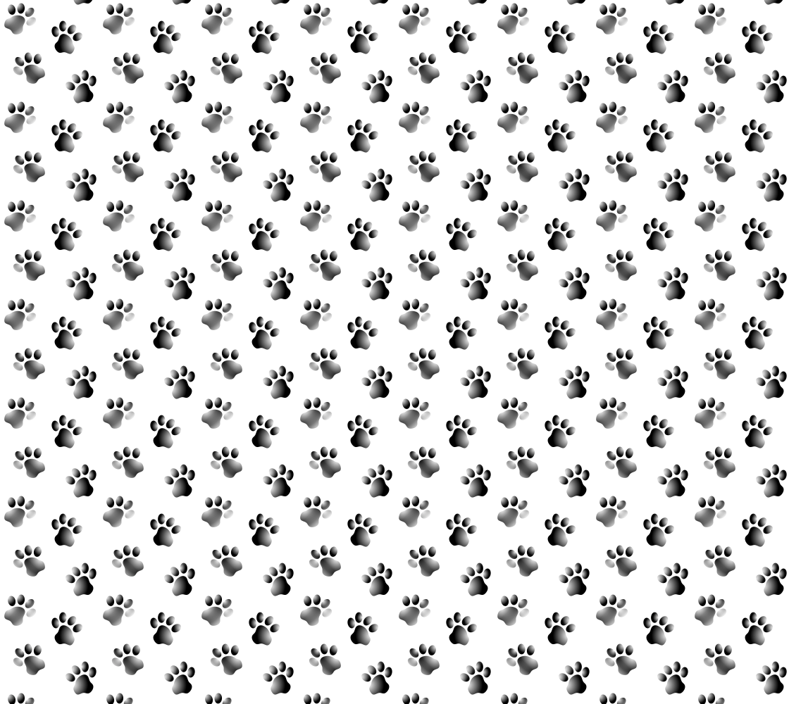 Cat or Dog Animal Paw Print Pattern In Black and White preview