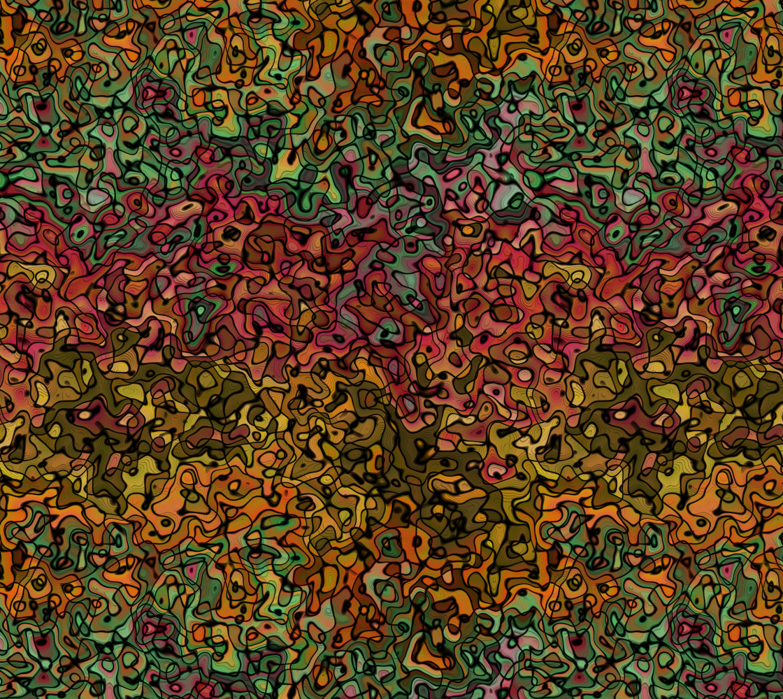 Fall Colors Abstract Camouflage Fabric Pattern in Red Gold Green preview