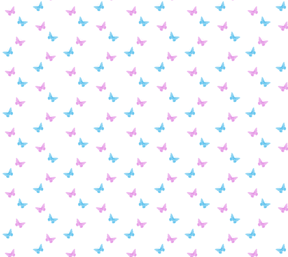 Butterfly Fabric Pattern Minimalist Pastel Blue and Pink on White Panel preview