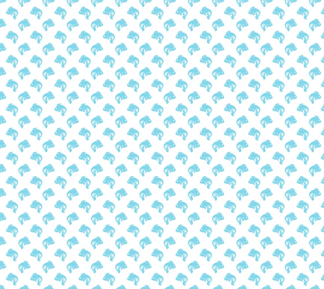 Aperçu de Fish Swimming Fabric Pattern Light Blue on White Coloured