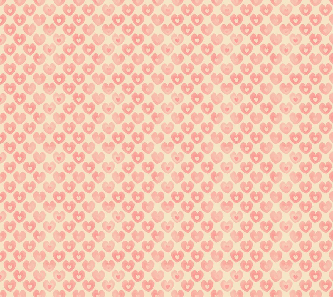 Aperçu de Coral Peach and Light Gold Coloured Heart Shaped Fabric Pattern