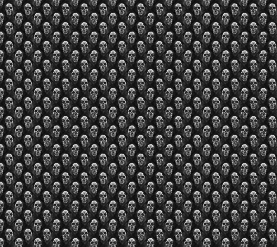 Aperçu de Human Skull Fabric Pattern Black and White Design