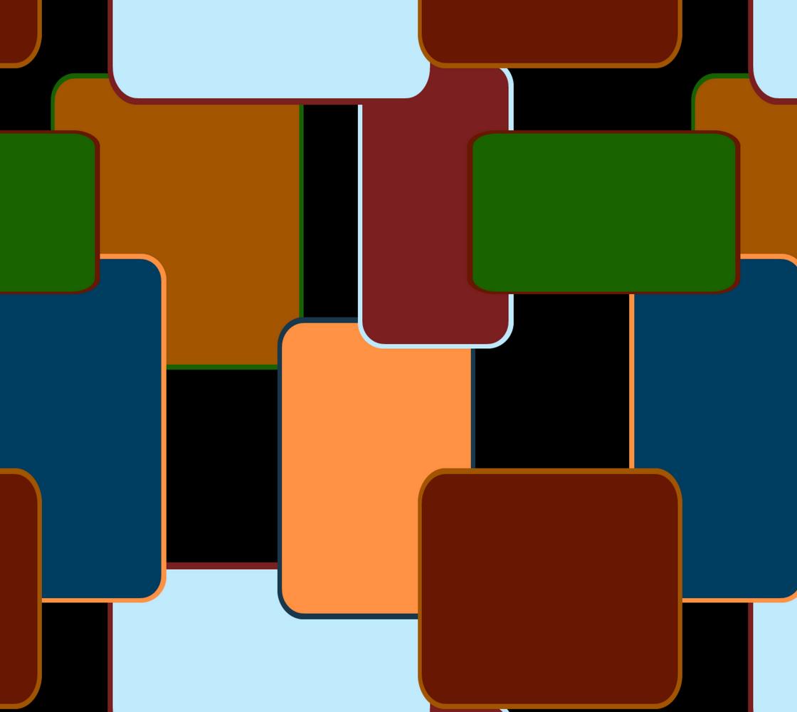 Retro squares on black preview