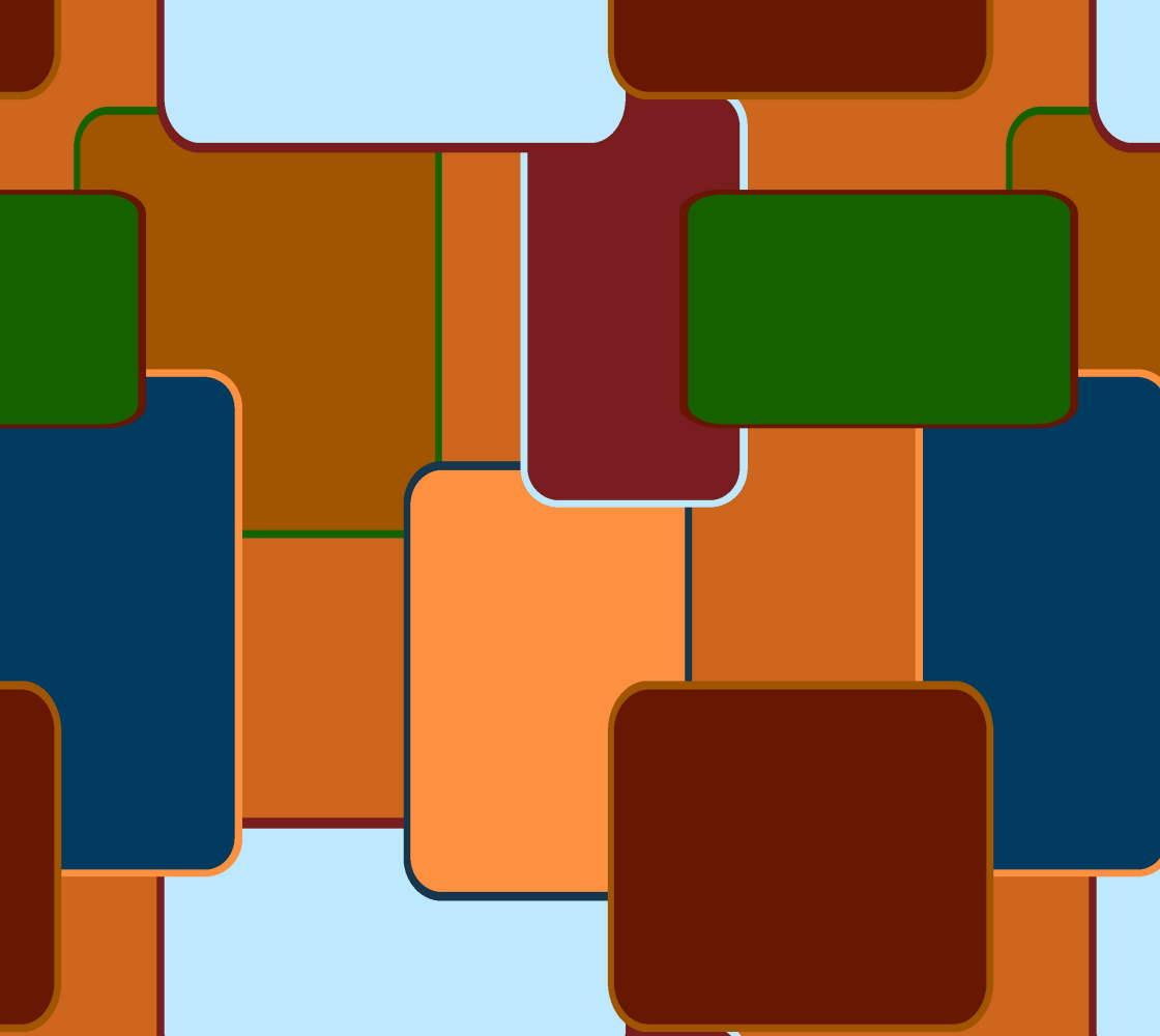 Retro squares on brown preview