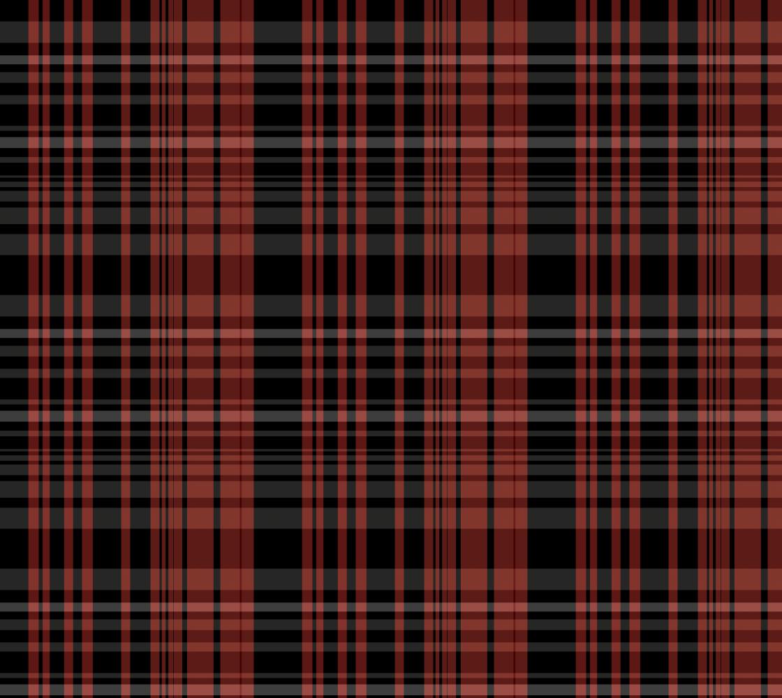Aperçu de Red and Black Plaid Fabric