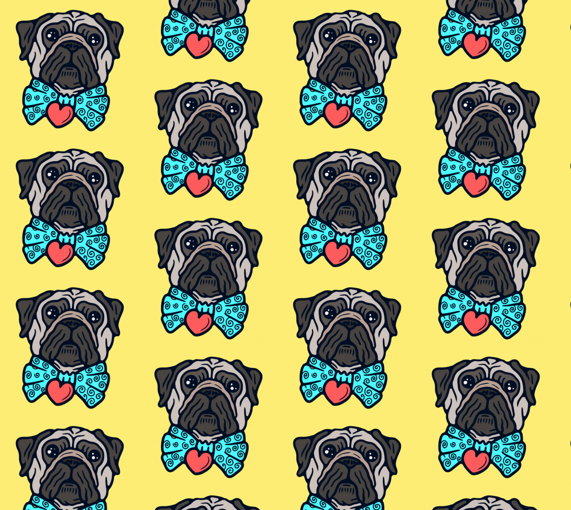 Funny Pug with Goofy Bow Tie preview