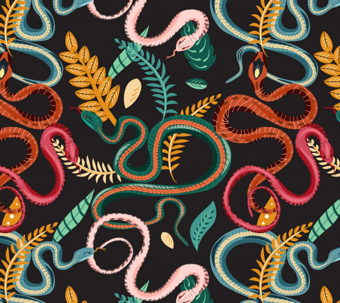 Aperçu de Colorful Snakes and Plants
