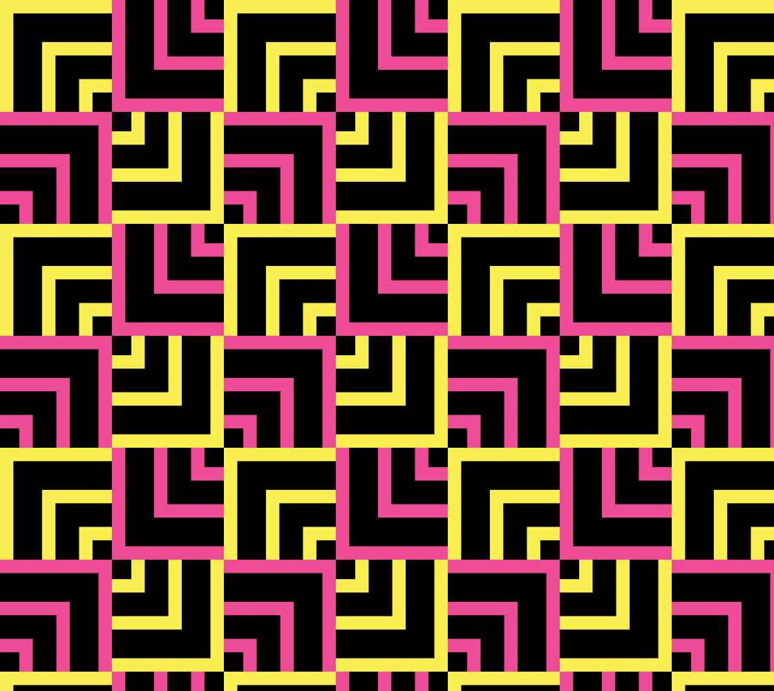 Pink and Yellow Squares Pattern preview
