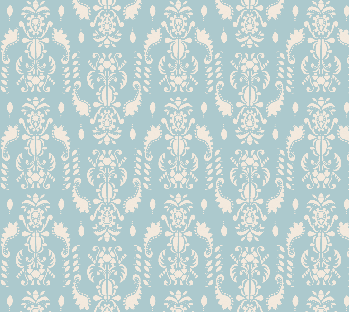 Aperçu de Blue and White Damask pattern