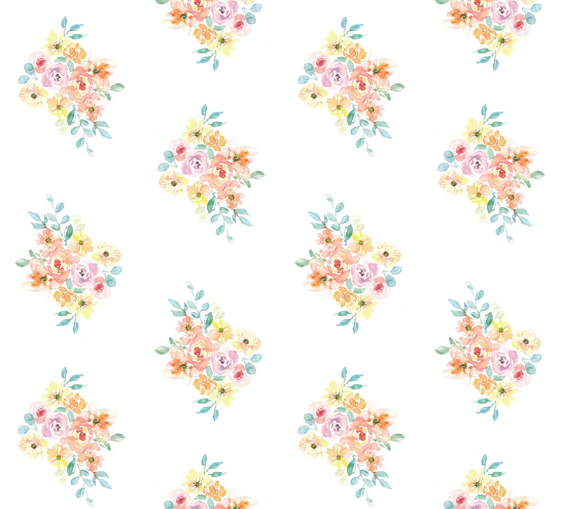 Aperçu de Sweet pastel bouquet fabric