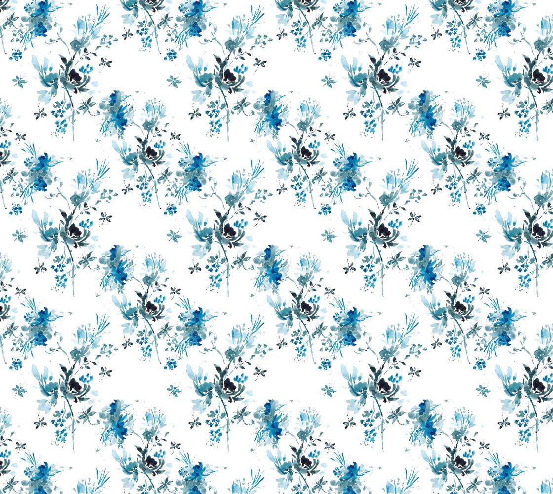 Aperçu de Blue and White Dragonfly fabric