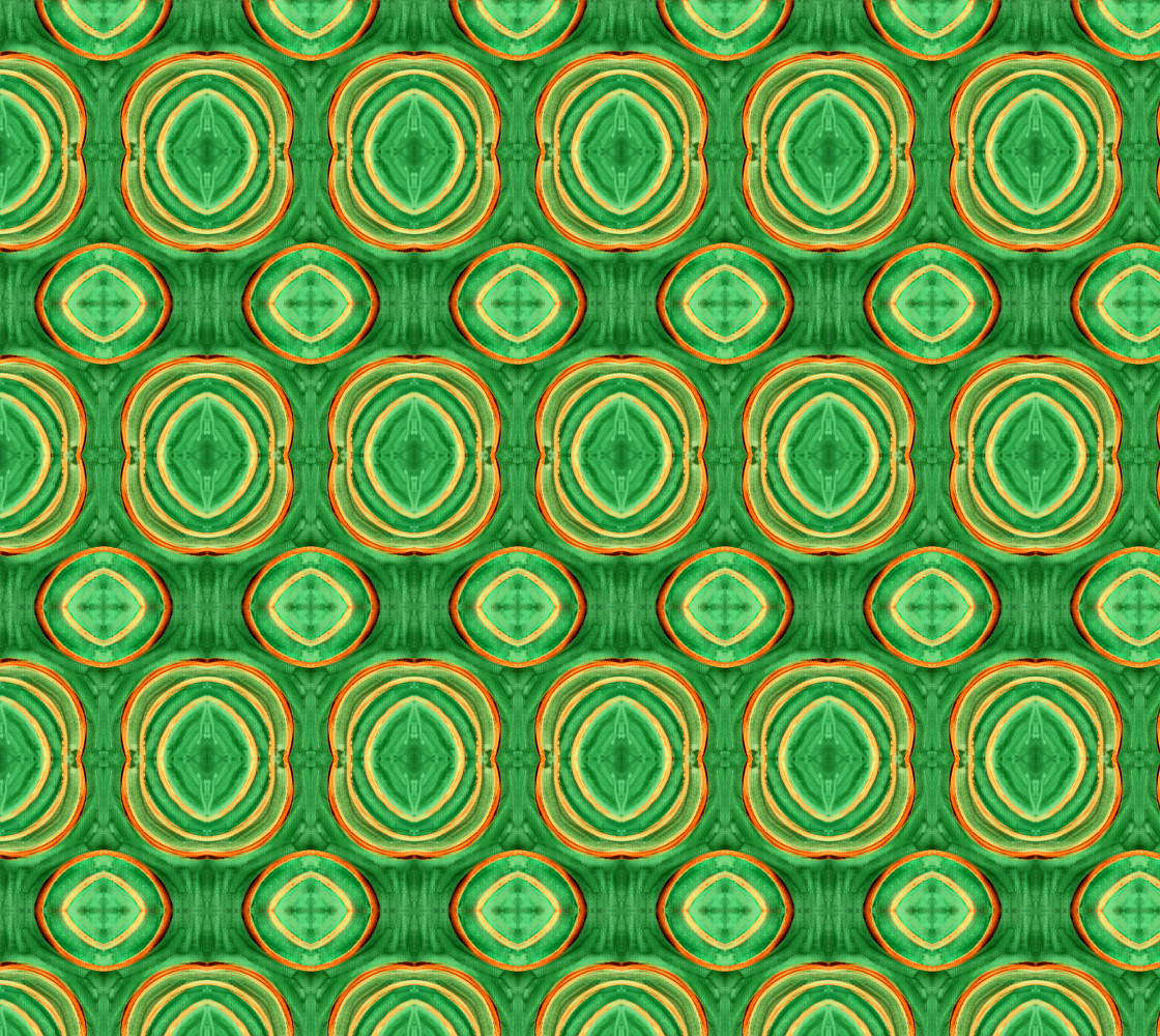Abstract Green Circles Pattern Fabric preview