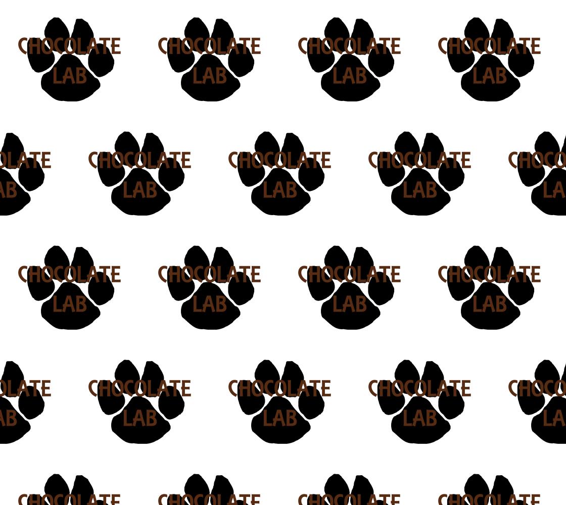 Labrador Retriever chocolate name paw fabric preview