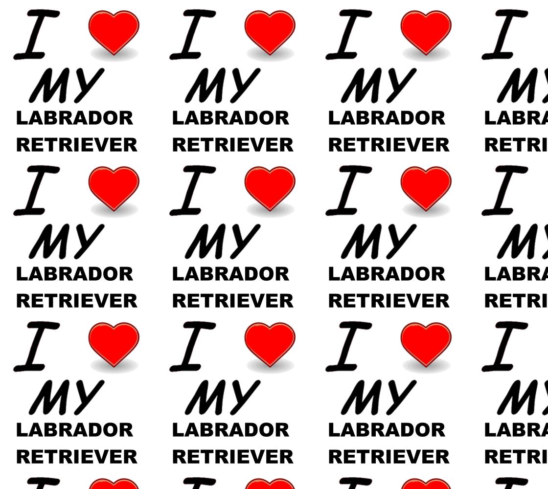 Labrador Retriever love fabric preview