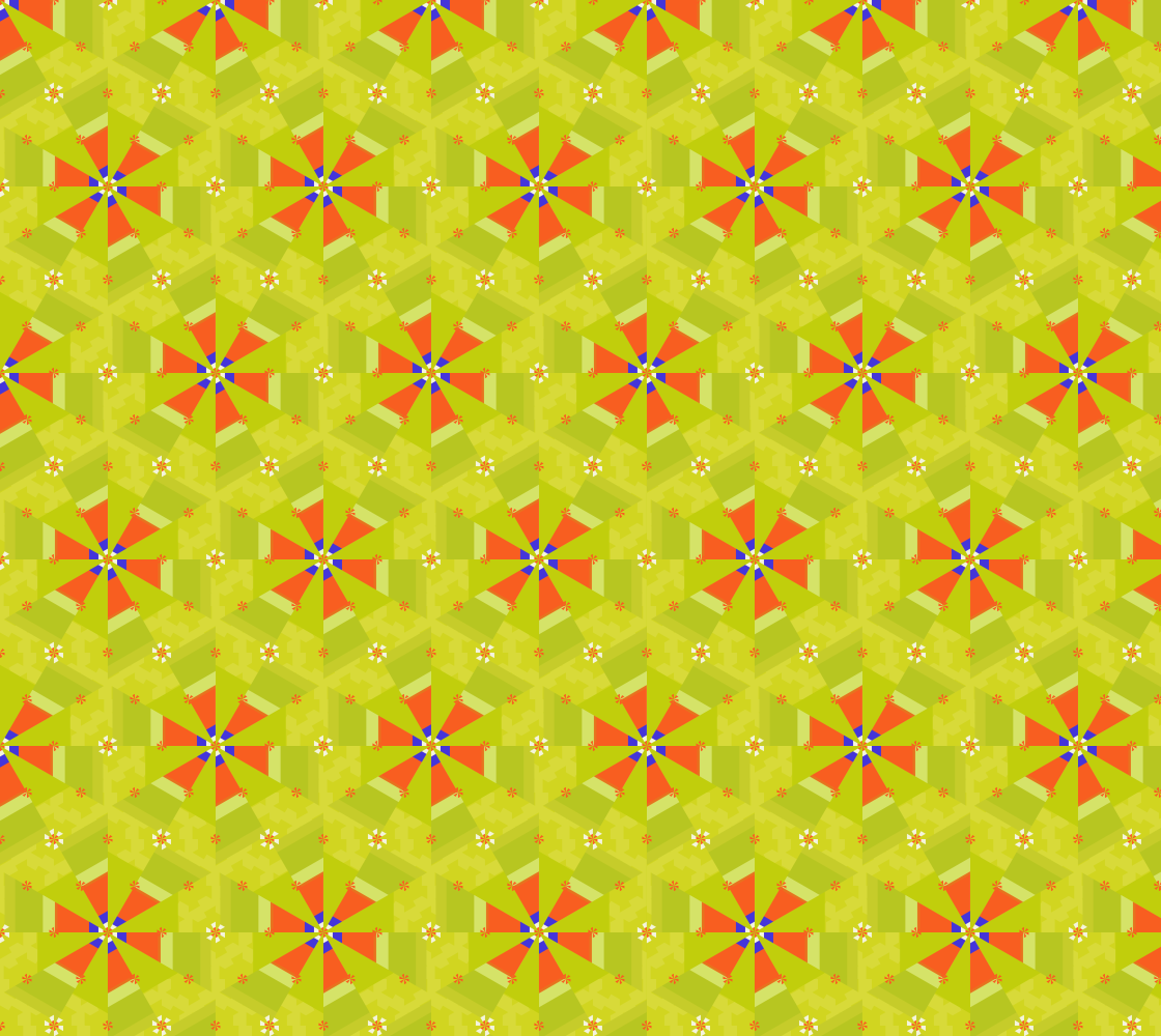 Geometric Flowers On Green preview