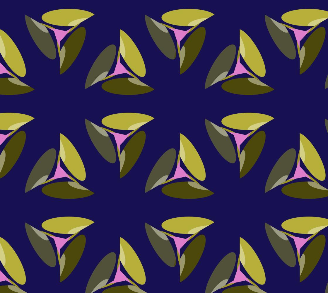 Fan Leaves On Opulent Purple Main Tile preview