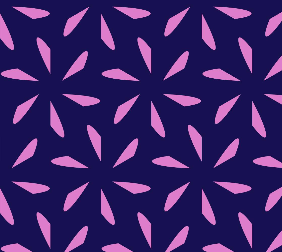 Fan Leaves On Opulent Purple Tile B preview