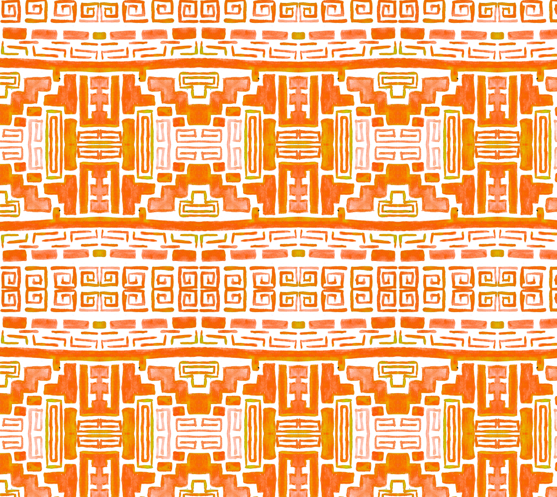 Native Tribal Pattern Boho Style Fabric preview