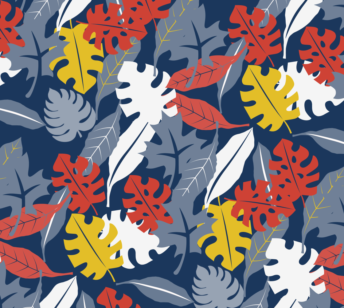 Autumn Tropical Leaves preview