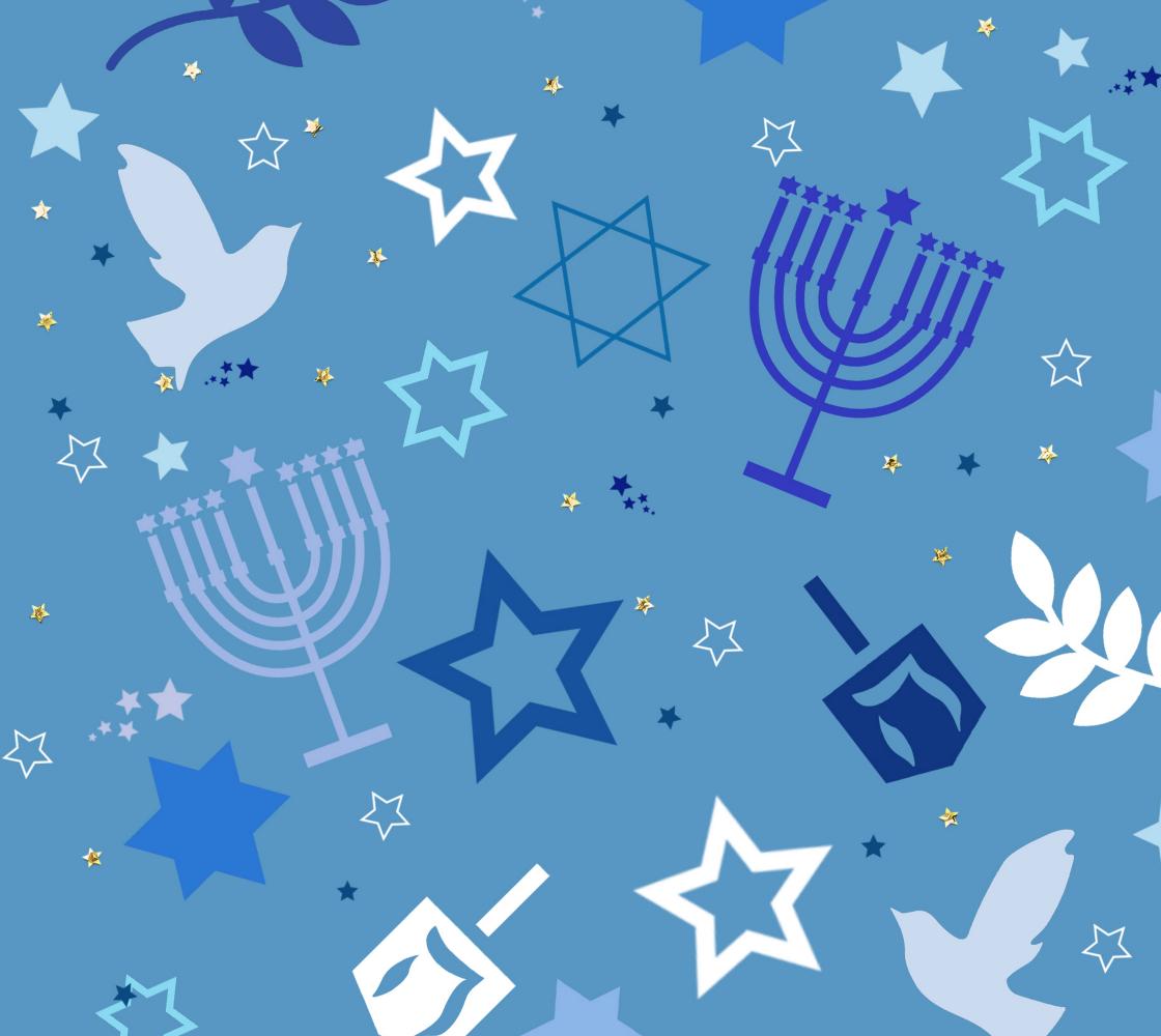 Beautiful Hanukkah Fabric preview