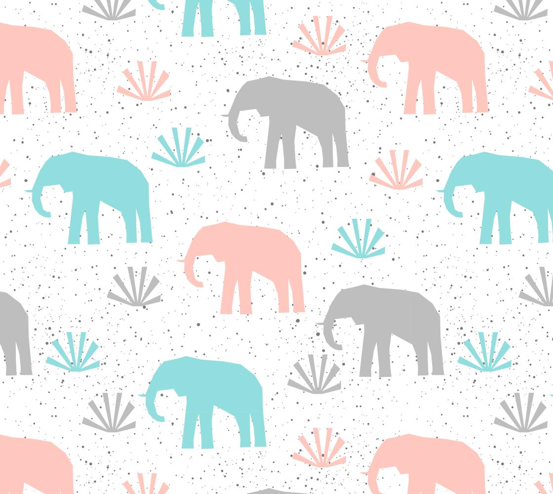 Aperçu de Sweet Pastel Elephants
