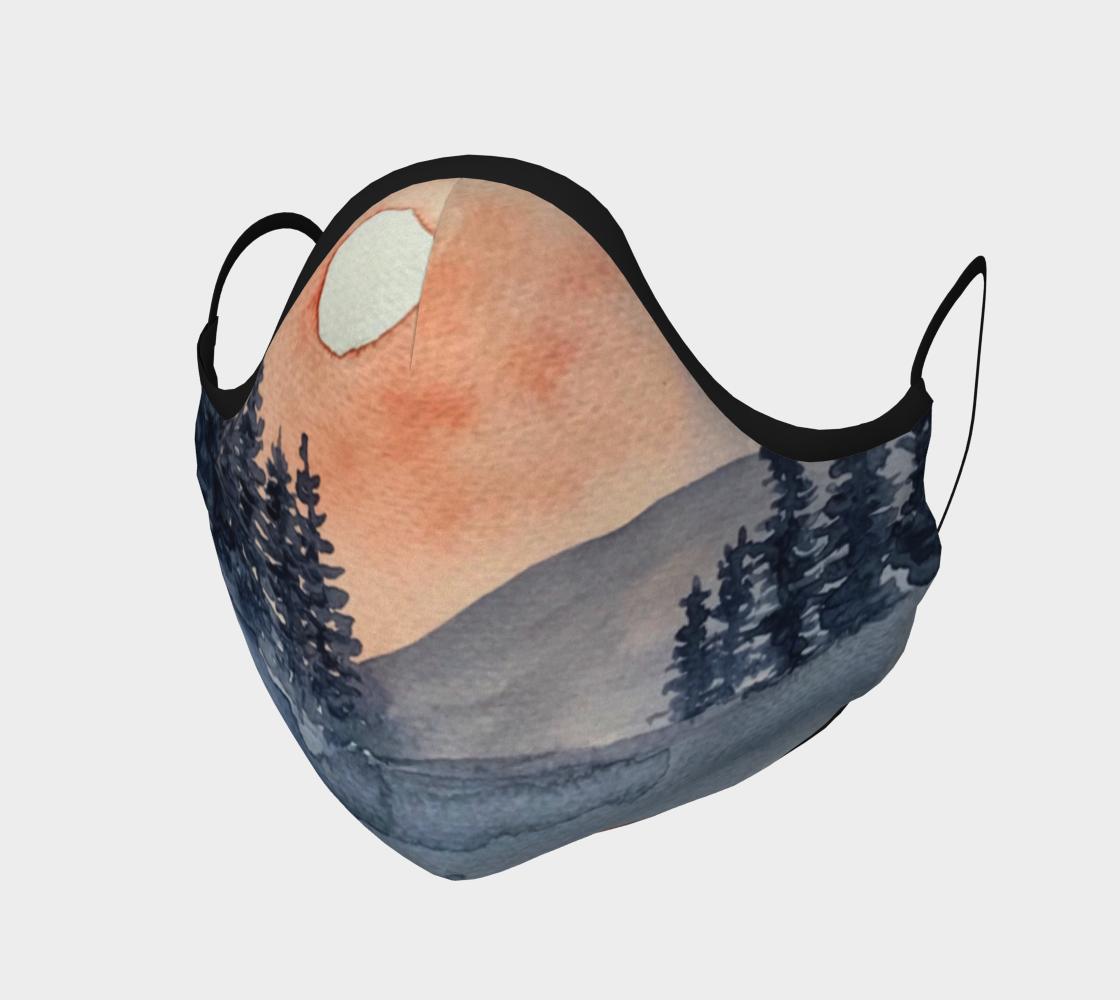 Masque Paysage aquarelle   preview