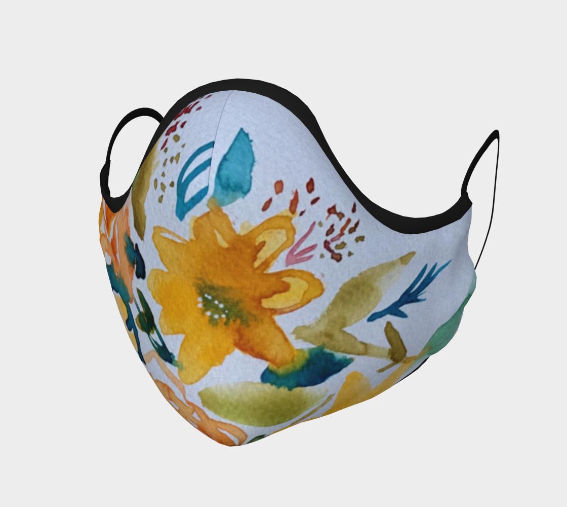 Masque Fleurs jaunes preview