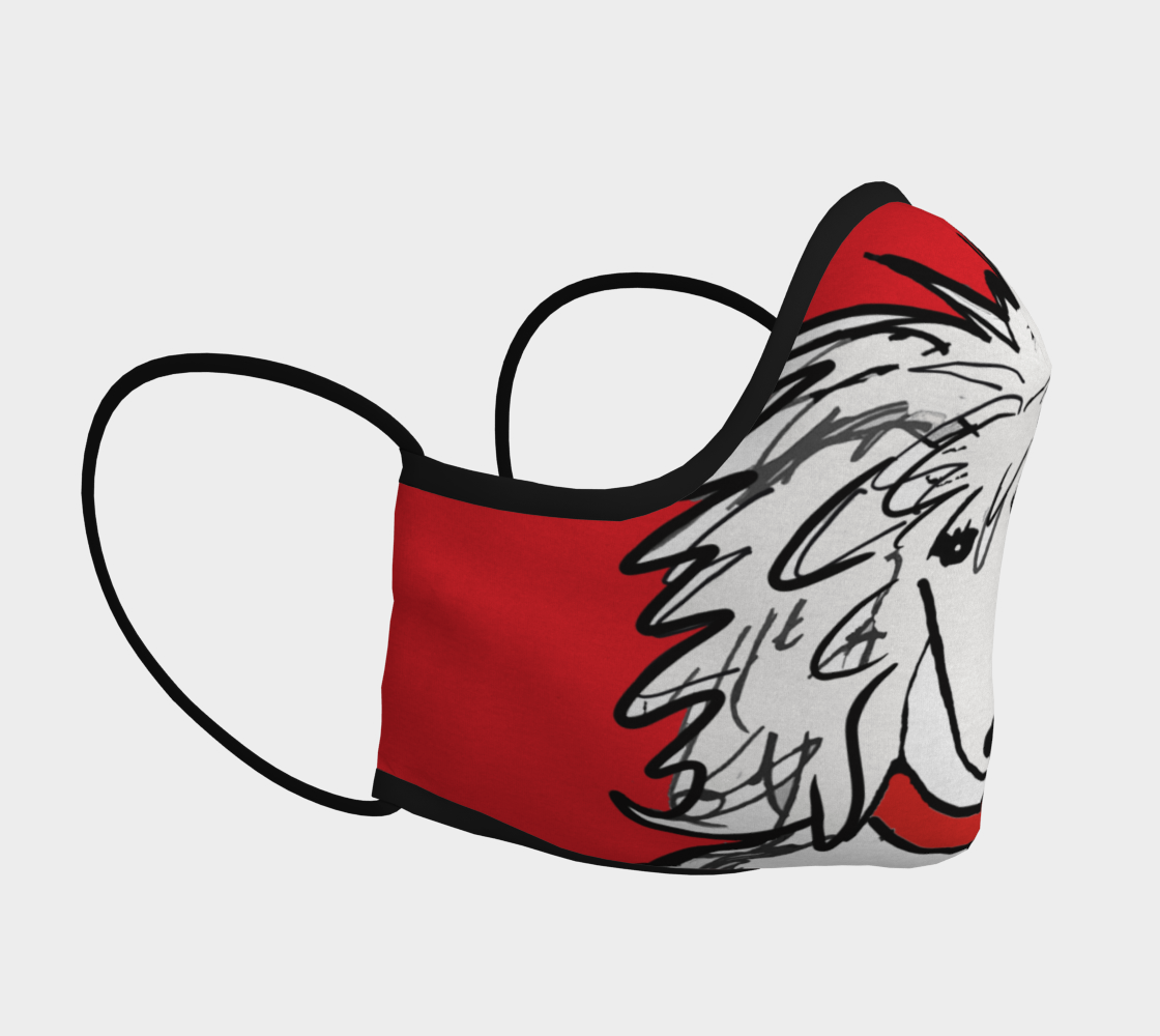 FACE MASK - Sergio Poodle Mask RED background preview #3