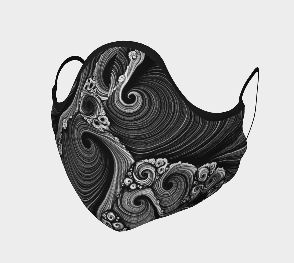 Abstract Swirls Spirals Face Mask preview #1