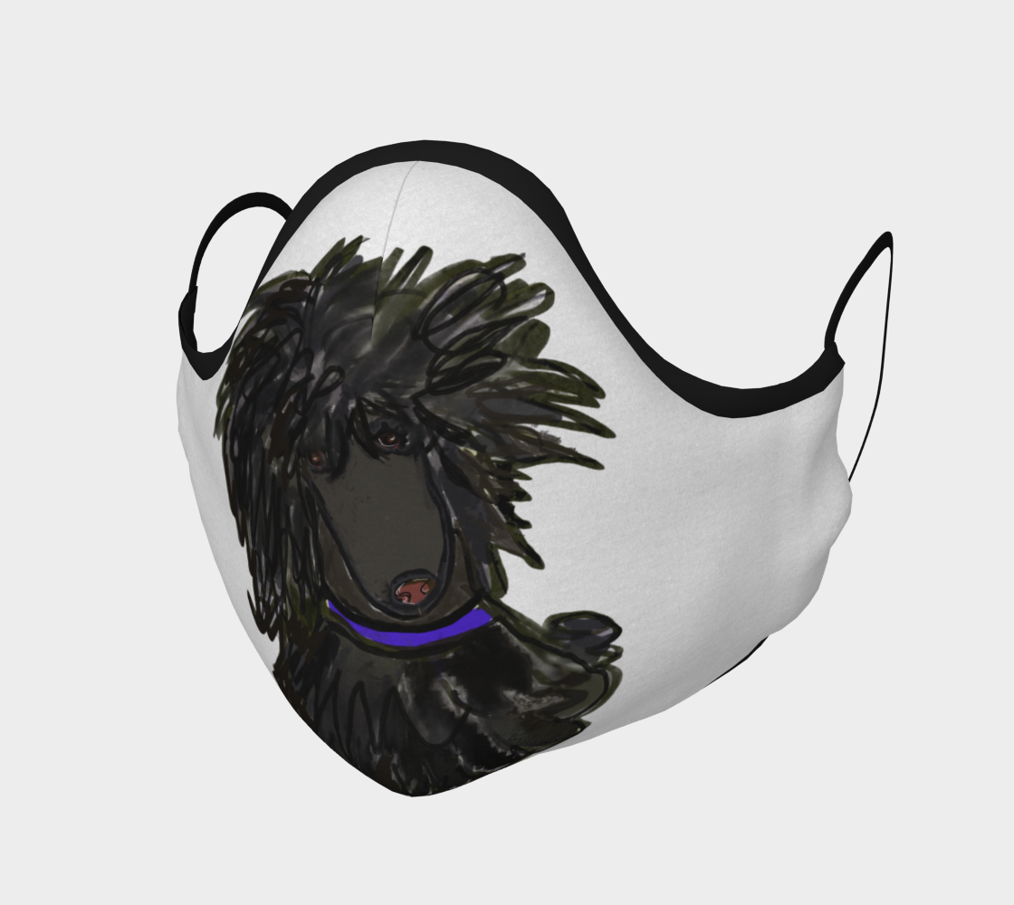 FACE MASK - Black Jack Poodle by broussalian preview