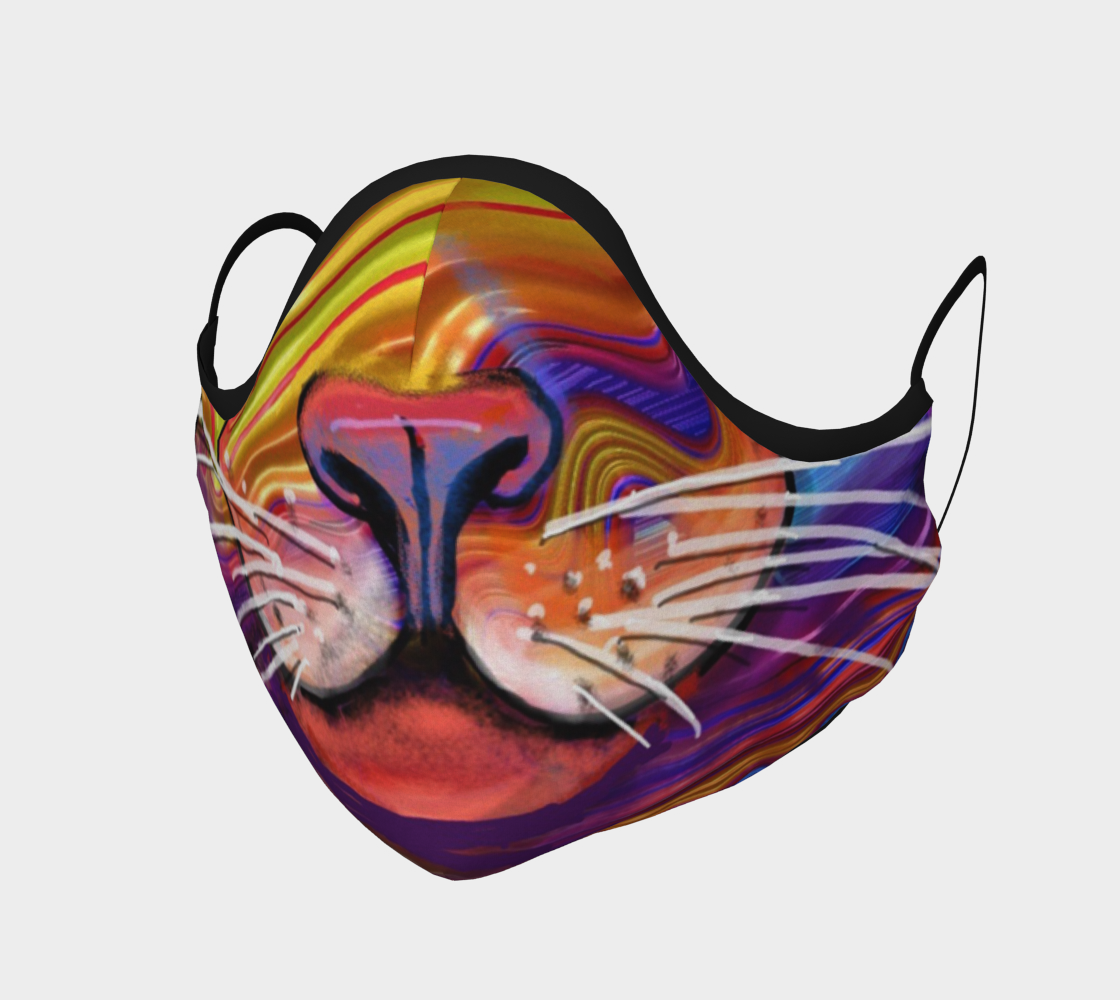 Fractal Cat Face Mask preview