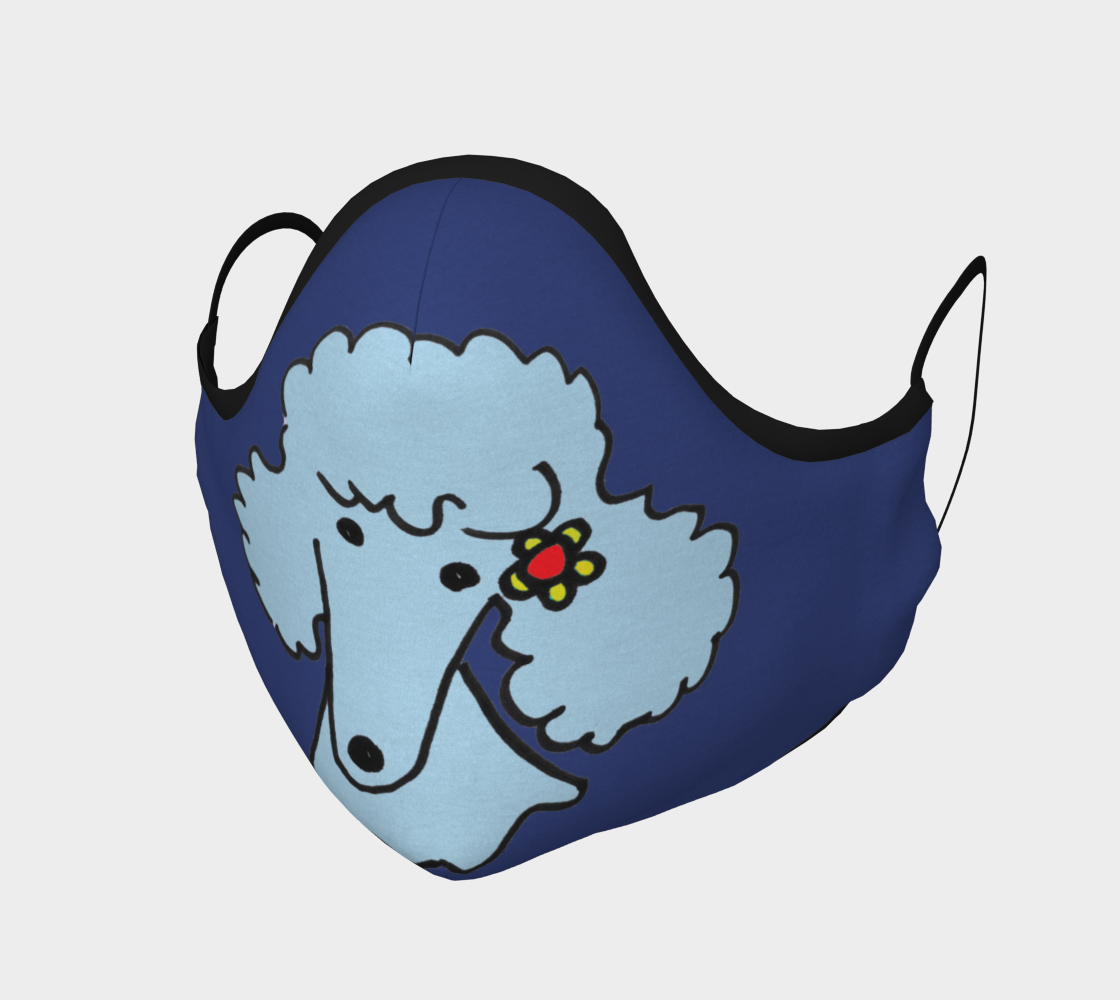 FACE MASK - Light Blue Poodle by Broussalian preview